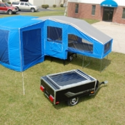 Motorcycle trailers campers